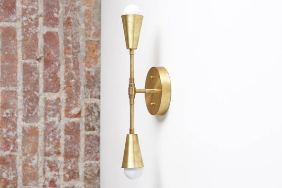 Brass Sconce Light - Wall Sconce - Modern Sconces - Gold Wall Light