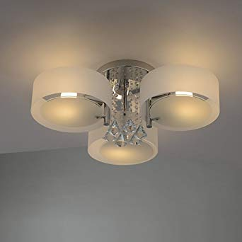 Amazon.com: YANCEN Flush Mount 3 Lights Chandelier Lighting Crystal
