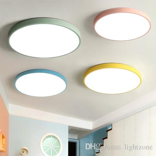 2019 New Arrivals Ultra Thin Led Ceiling Lights Modern Macarons