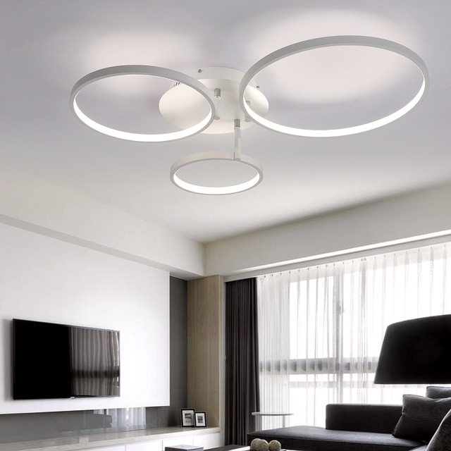 New Arrival Circle rings designer Modern led ceiling lights lamp for