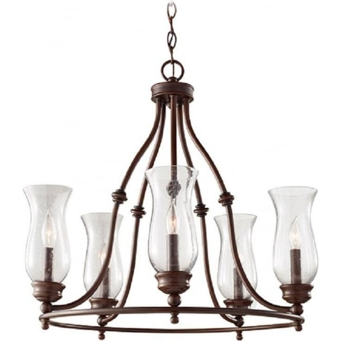 Bronze Farmhouse Hoop Chandelier in Classic Rustic Country Style