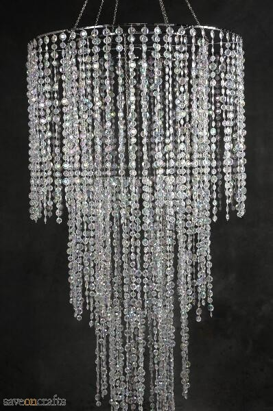 Four Tier Crystal Chandelier 77in | Save-On-Crafts
