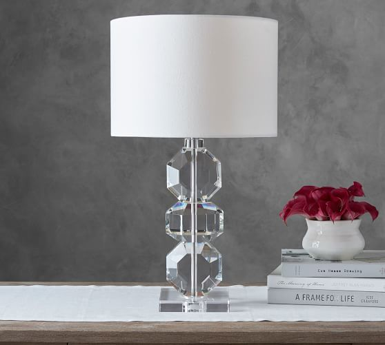 Brooklyn Faceted-Crystal Table Lamp | Pottery Barn