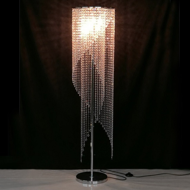 Crystal Floor Lamps for Living Room Standing Lamp for Bedroom