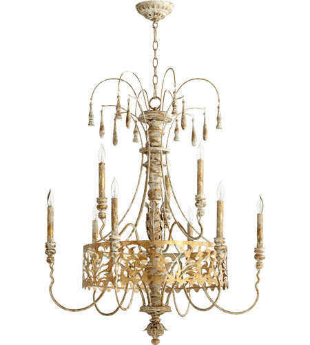 Quorum 6355-9-61 Leduc 9 Light 31 inch Florentine Gold Chandelier