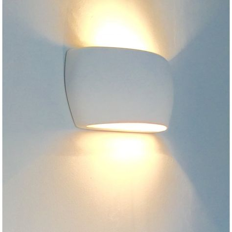 Alfie Lighting 0318MAR Marton 1 Light Double Insulated Gypsum Wall