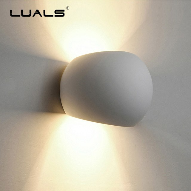 Fashion Modern Wall Light Simple Gypsum Wall Lamp Creative Hollow