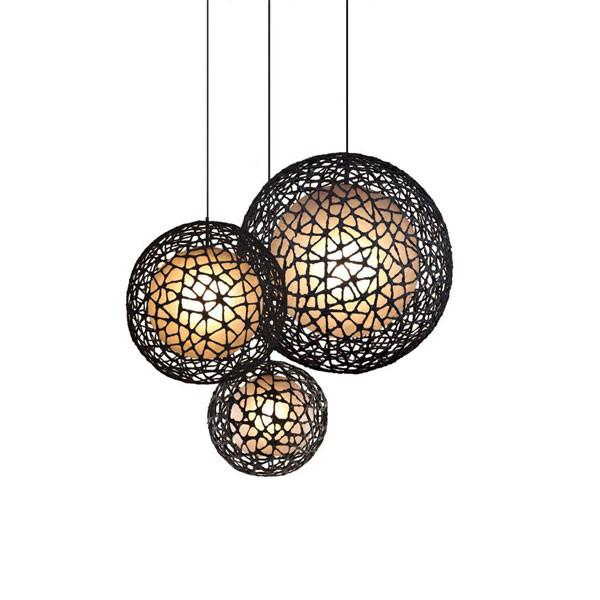 C-U C-Me Round Hanging Lamp Large by Kenneth Cobonpue for Hive