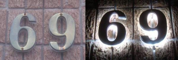 How to illuminate existing house numbers with LED's? - DoItYourself