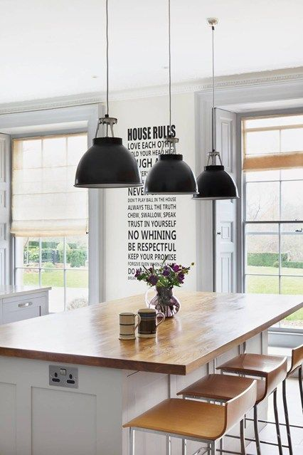 Country House Meets Chic Modernity | Garden ideas | Kitchen, Kitchen