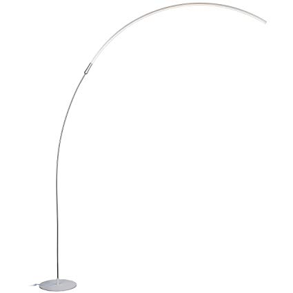 Brightech Sparq Arc LED Floor Lamp - Modern Over The Sofa Living