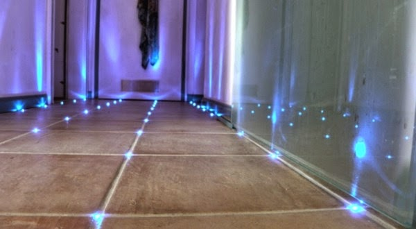 How to make built in LED floor lights in bathroom tiles | Raimund