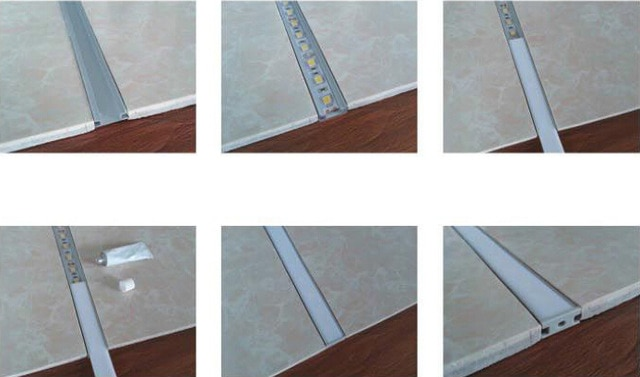 2015 fashion slim LED floor lighting waterproof lamp 50x2m for floor