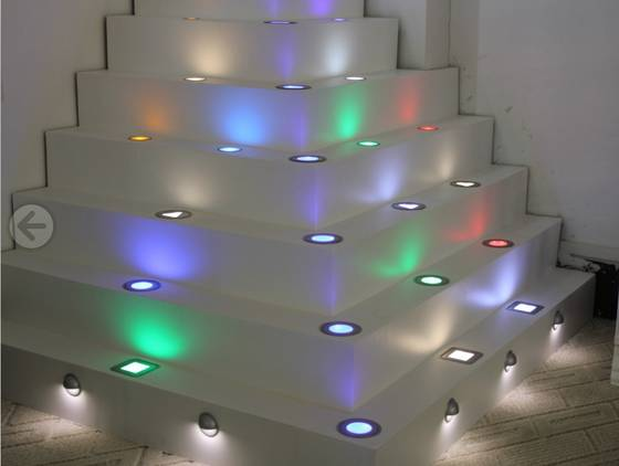 LED Decking Light/ Stair Light/ Floor Light - Seven Colors Lighting