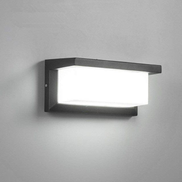 18W Outdoor Lighting Modern Wall Light LED Wall Sconce Square Metal