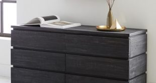 Emmerson® Modern Reclaimed Wood 6-Drawer Dresser - Ink Black | west elm