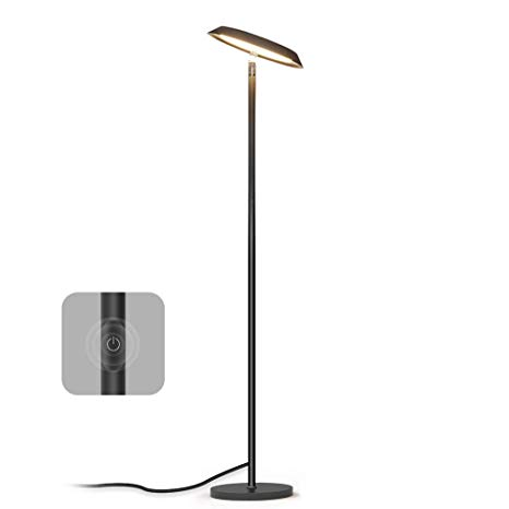LED Floor Lamp, Dimmable Modern Tall Floor Lamps, Industrial Office