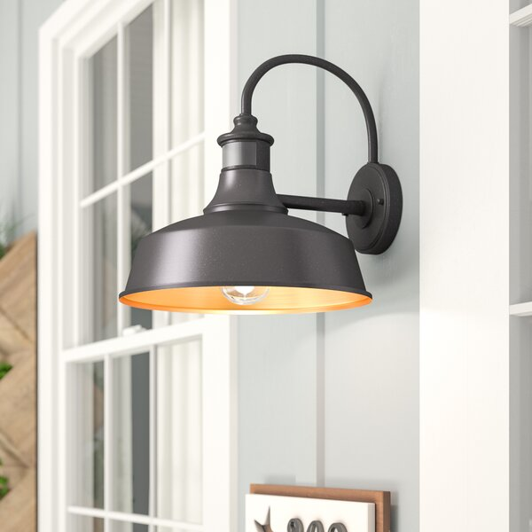 Gracie Oaks Ziebarth Outdoor Barn Light with Motion Sensor & Reviews