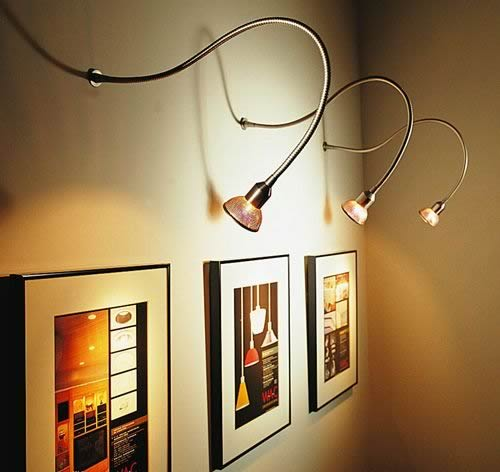 Add a Spark to your Wall Art with Picture Lights   Ideas 4 Homes