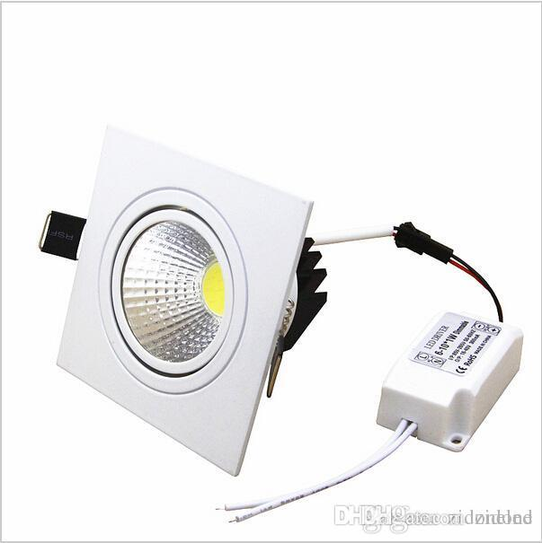 Square Led Down Lights Dimmable Led Recessed Spotlights COB Lighting