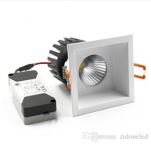 Square COB Downlight Led Recessed Spotlights Replaceable Light