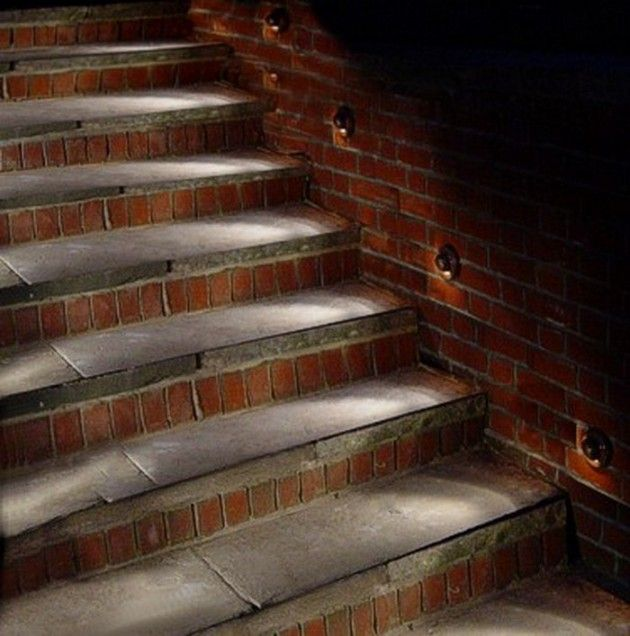 27 Attractive Outdoor Steps Lighting Designs | Patios | Lighting