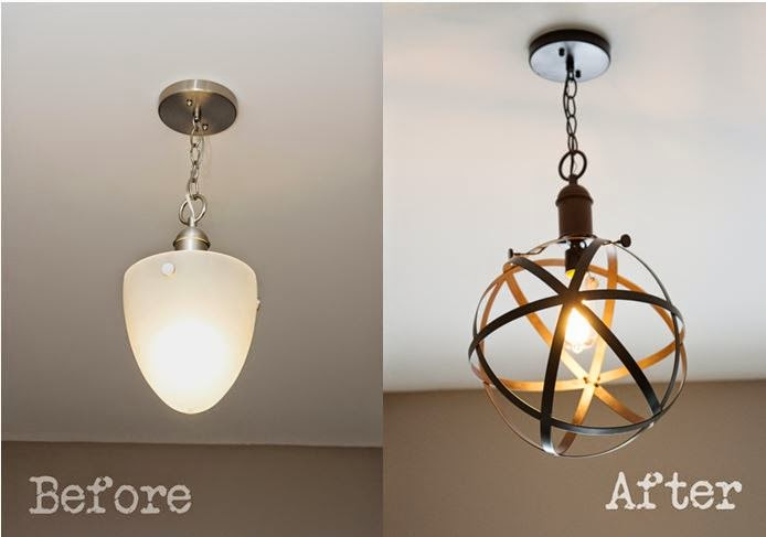 DIY Industrial Rustic Pendant Light - Bless'er House