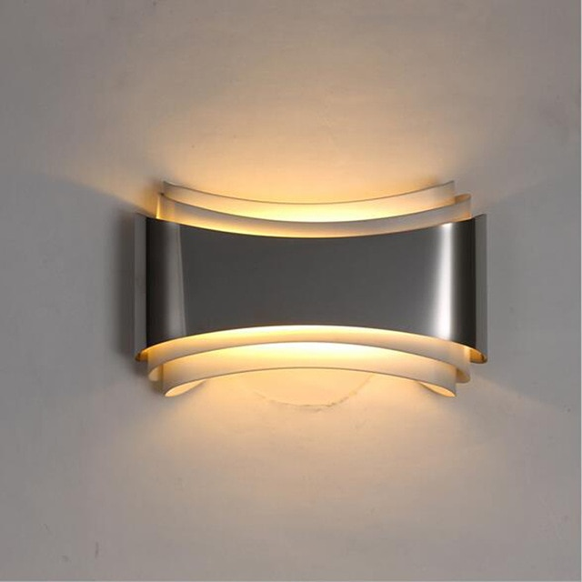 Ecolight Modern led wall lights for bedroom study room Stainless