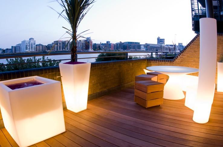 Roof Terrace Lighting For Interesting And Marvelous Classic Roof