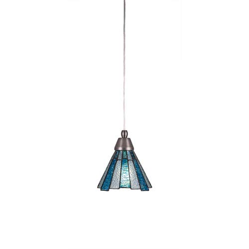 Toltec Lighting Any Brushed Nickel One Light Mini Pendant With Sea