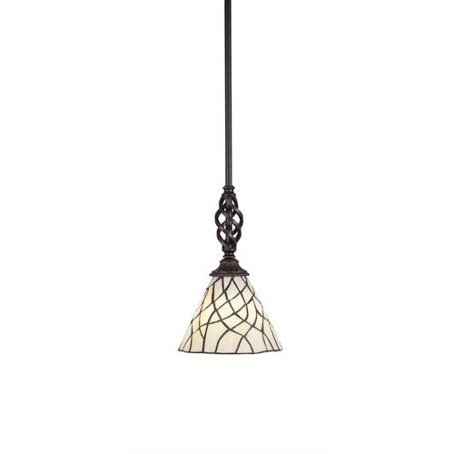 Toltec Lighting Eleganté Dark Granite One Light Mini Pendant With