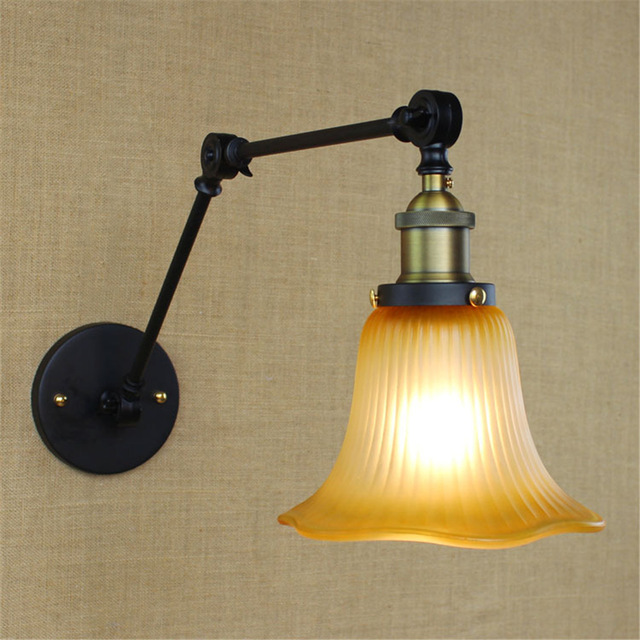 vintage Modern Adjustable wall lamp country style indoor lighting
