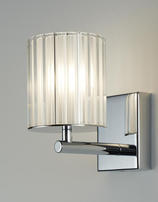 Space-saving lighting accents with wall lights