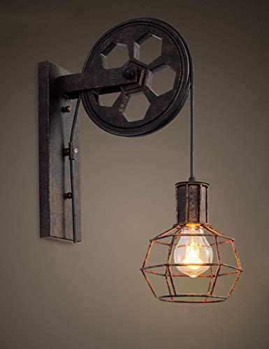 Creative Retro Industrial Style Wall Lights Loft Style Lifting