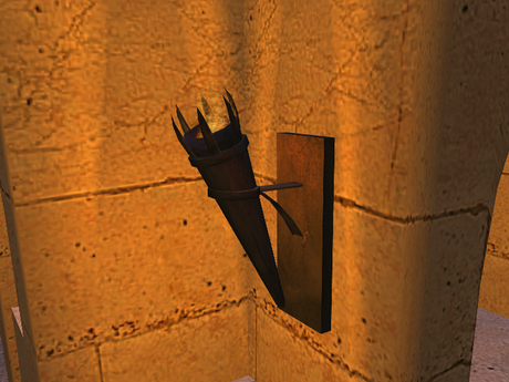 Second Life Marketplace - Medieval / Fantasy 1-prim Wall Torch