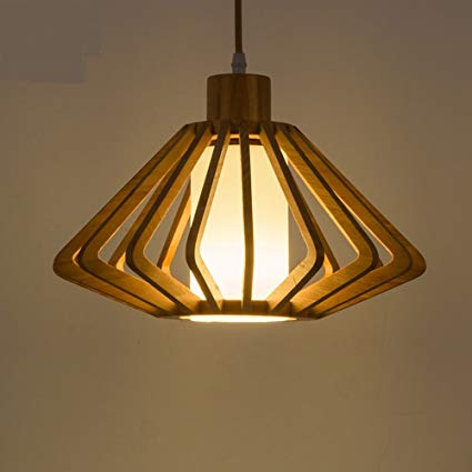 Wood pendant lamps:Add some nature