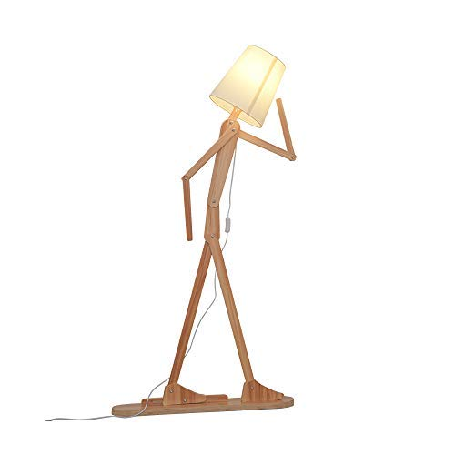 HROOME Modern Contemporary Decorative Wooden Floor Lamp Light with
