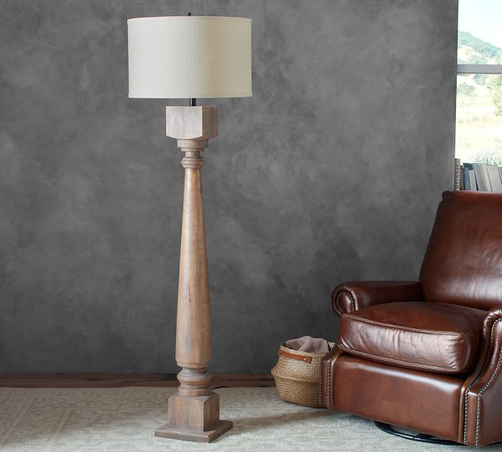 Wooden floor lamps – shining natural feeling