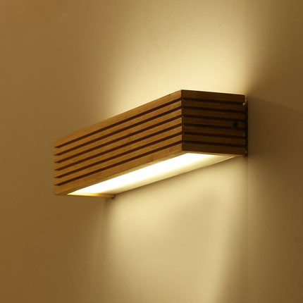 Wall lamps made of wood – Cozy natural feeling