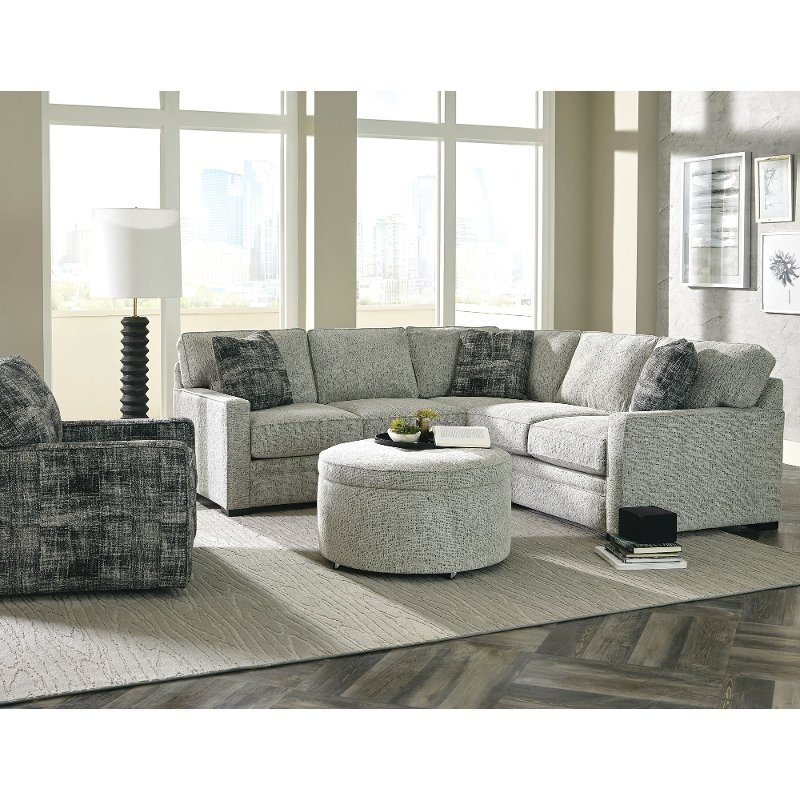 Contemporary Gray 2 Piece Sectional Sofa with LAF Loveseat - Juno | RC  Willey Furniture Store