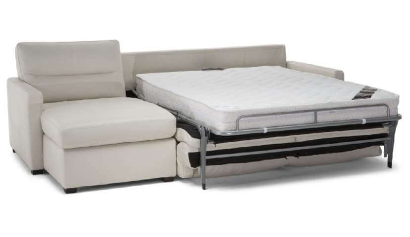 Sicily 3 Seater Sofa Bed with Storage Chaise