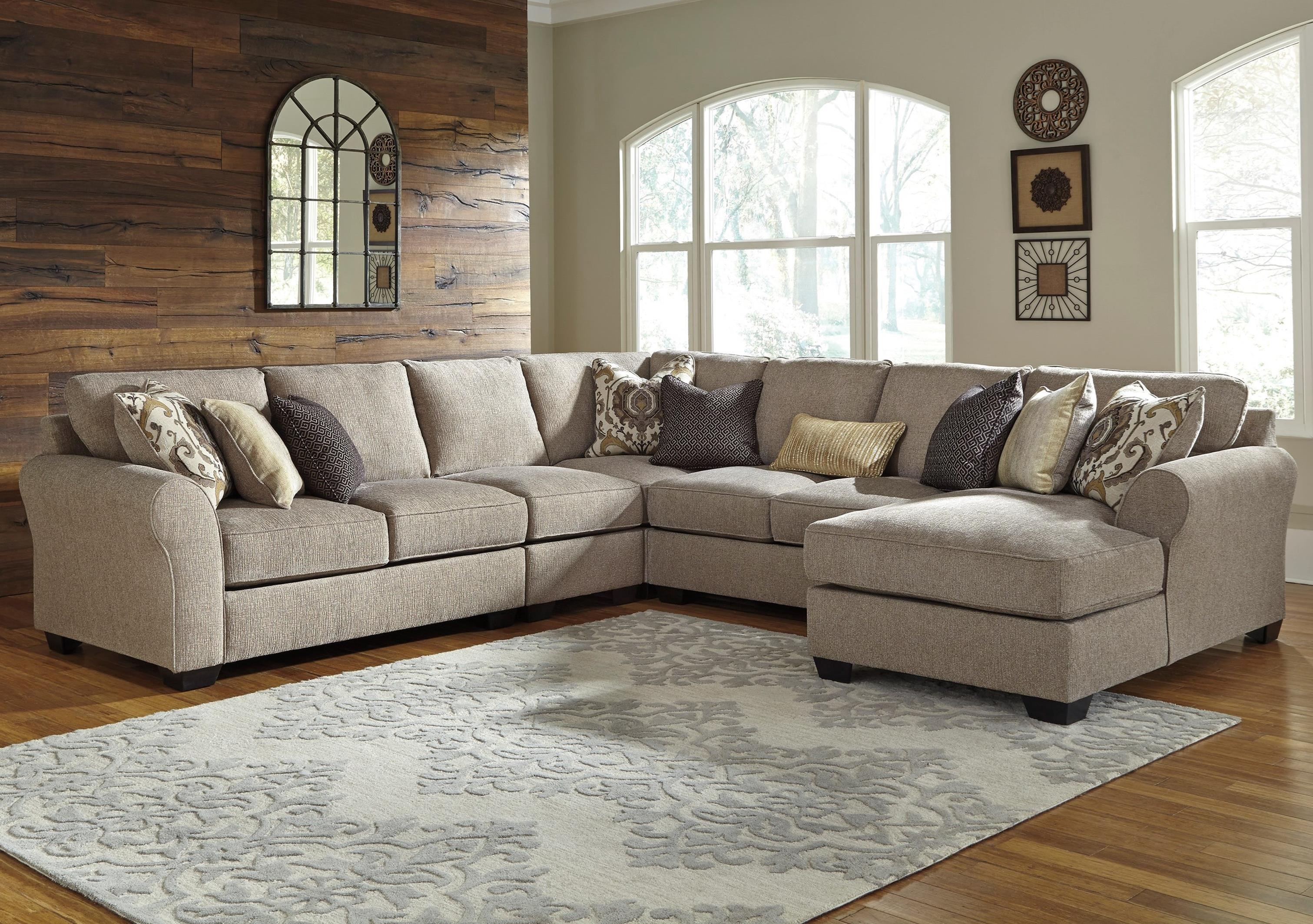 Benchcraft Pantomine 5-Piece Sectional with Right Chaise | Boulevard Home  Furnishings | Sectional Sofas
