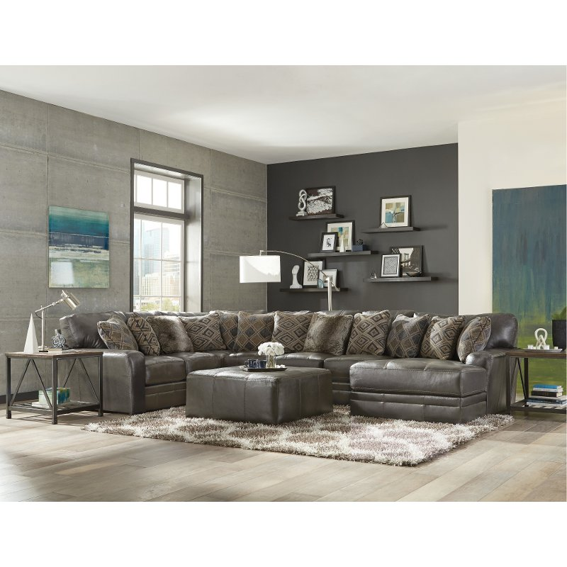 Steel Gray 5 Piece Sectional Sofa with RAF Chaise - Denali | RC Willey  Furniture Store