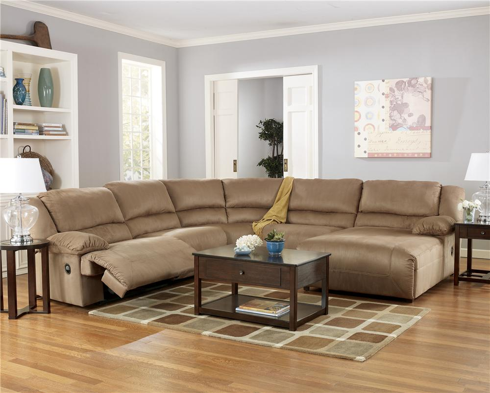 5 Piece Sectional Sofa Group with Chaise