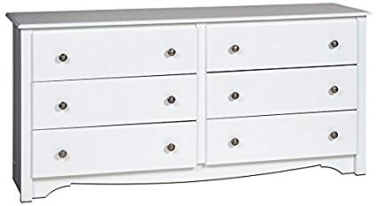 Image Unavailable. Image not available for. Color: White Monterey 6 Drawer  Dresser
