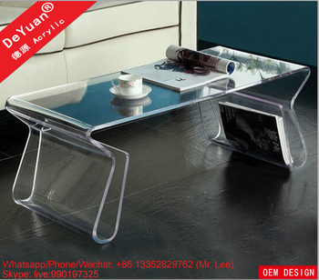 Pmma Clear Acrylic Office Desk For Home Decoration - Buy Office
