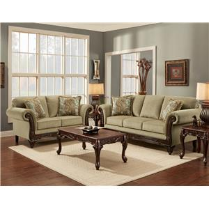 Affordable Furniture 8500 Stationary Living Room Group | Royal Furniture |  Upholstery Group