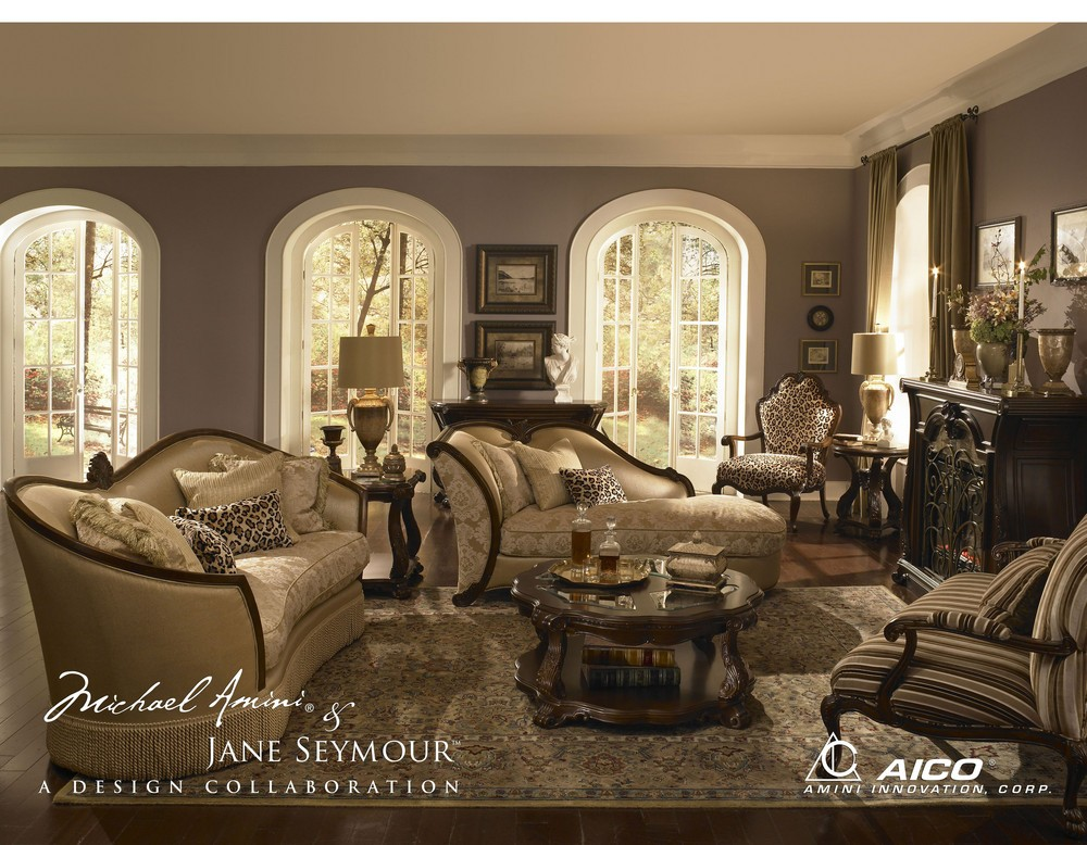 Living Room Ideas Michael Amini Furniture Buy Palace Gate Set Group Opt  By Aico From Aico