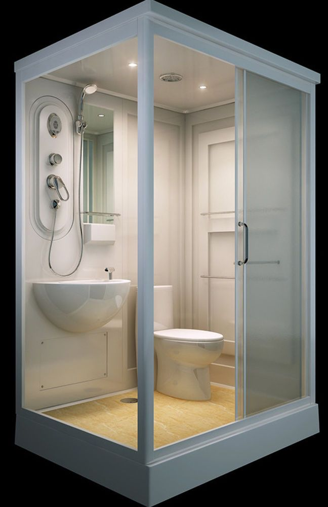 ALL IN ONE Flat Pack Modular Shower Room,Toilet, Basin Assembled size 140 x  110= in Industrial, Modular & Pre-Fab Buildings | eBay!
