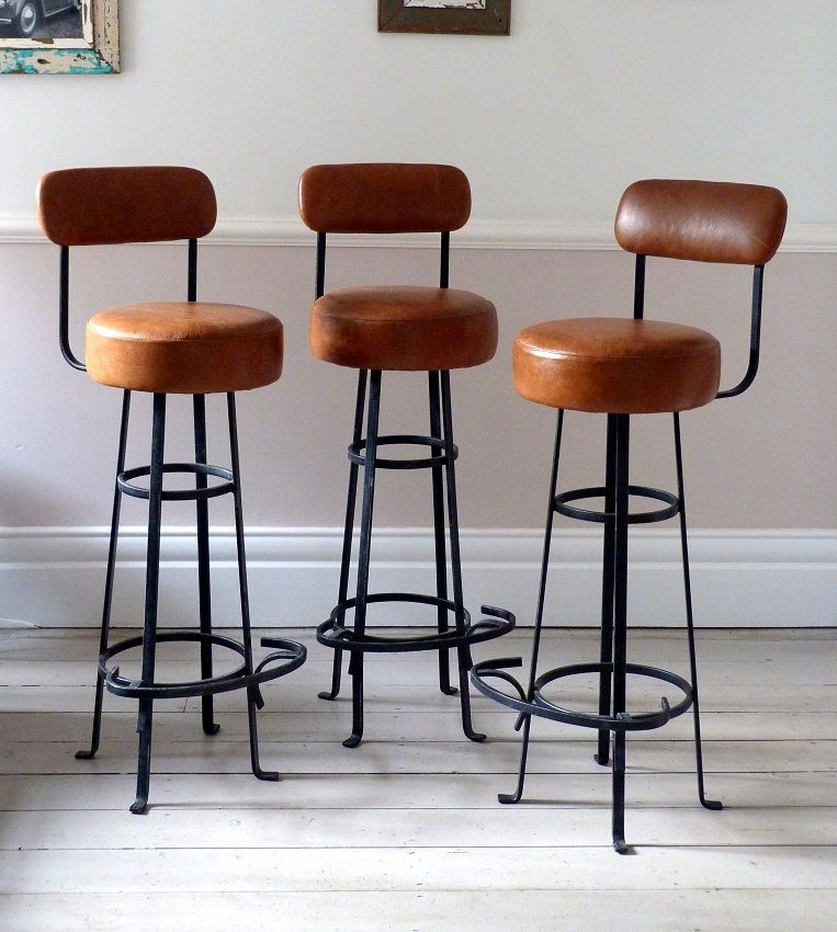 Vintage Bar Stools With Backs Barstools Vintage Bar